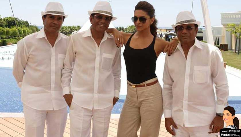 Hussain Burmawala with Abbas, Deepika Padukone and Mustan
