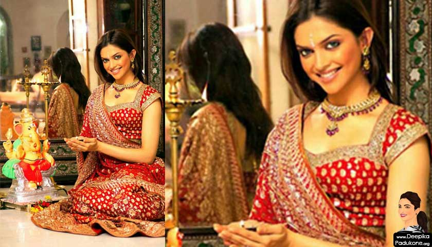 Deepika Padukone in red wedding dress