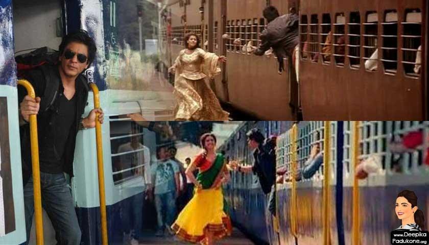 Deepika Padukone @ Chennai Express, Kajol @ DDLJ, train scene