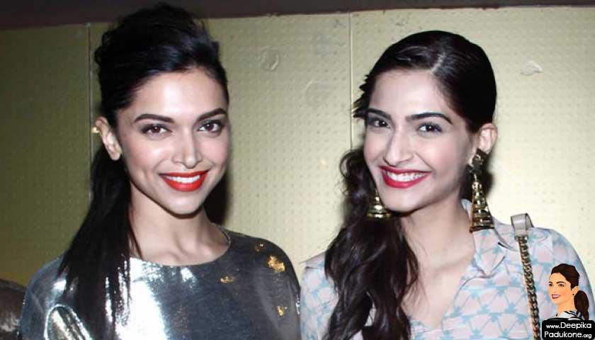 Deepika Padukone and Sonam Kapoor