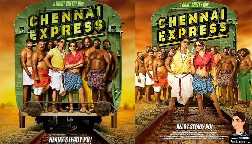 Shahrukh Khan, Deepika Padukone flaunt lungi for Chennai Express
