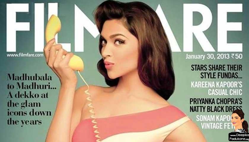 Deepika Padukone Filmfare Magazine January 2013