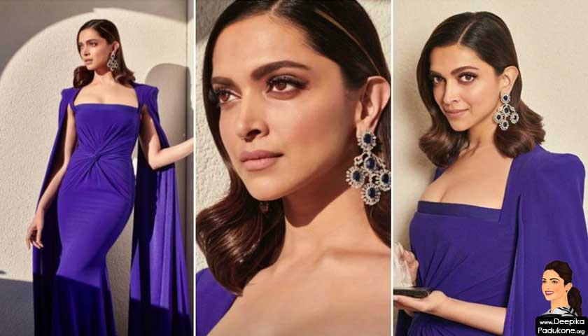 Deepika Padukone in purple gown